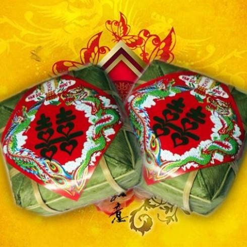 Cặp bánh chưng xanh - Đậm đà hương vị Tết