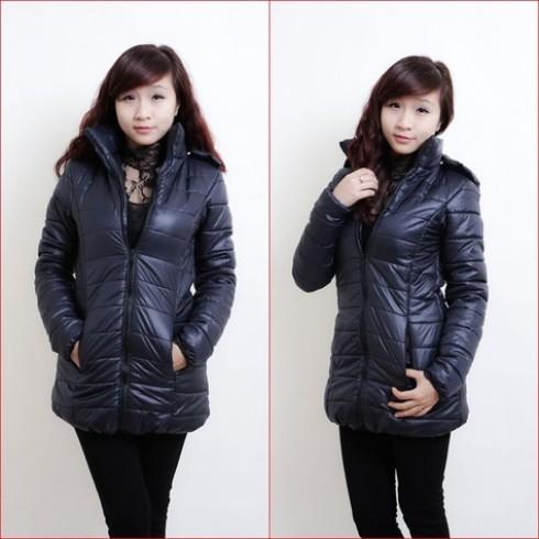 Eo thon gọn với áo khoác gió nữ xuất Hàn