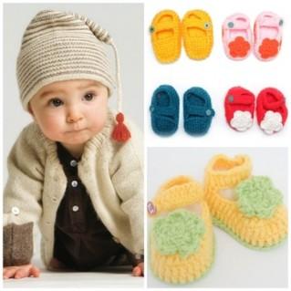 Combo 3 đôi giầy len handmade xinh yêu cho bé