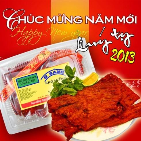 Khô bò miếng Châu Đốc - Sáu Bảnh - Đồ Ăn