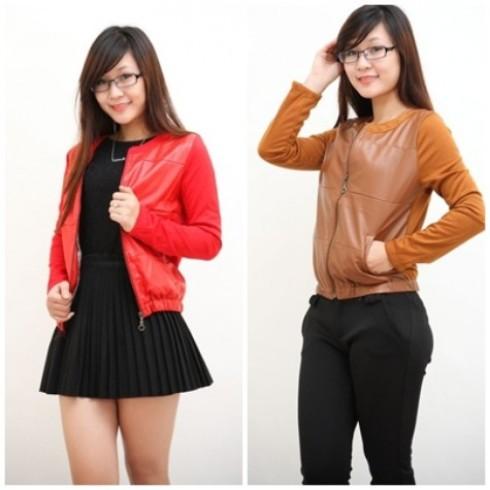 Xinh xắn với áo khoác cotton pha da - 1 - Thời Trang Nữ