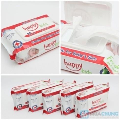 Gía rẻ với Combo 5 hộp khăn ướt Happy Kids