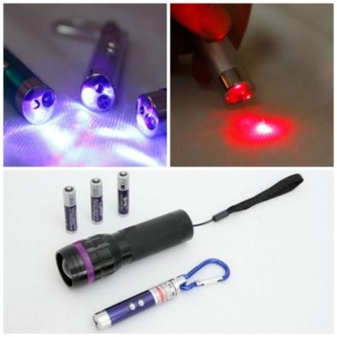 Tiện lợi với Đèn pin mini + đèn laze
