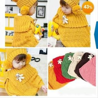 Áo len choàng ấm áp cho bé - Thời Trang Trẻ Em