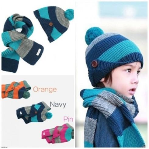 Bộ khăn mũ len ấm áp cho bé yêu