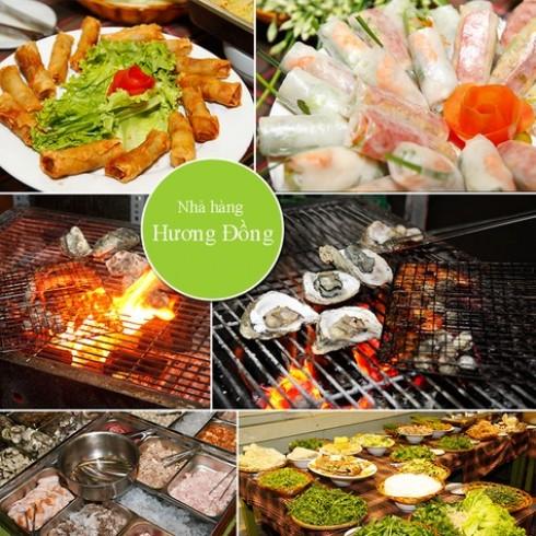 Buffet tối phong phú tại NH Hương Đồng