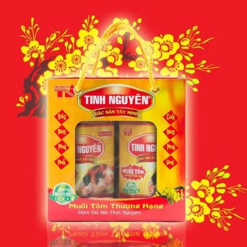 02 hộp muối tôm Tinh Nguyên - Quà tặng ngày tết