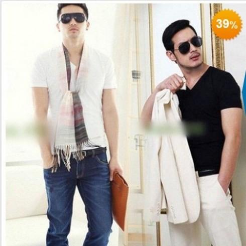 Bộ 2 áo thun body nam, cổ tim - 3 - Thời Trang Nam