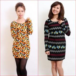Phá cách với Váy len họa tiết nổi bật