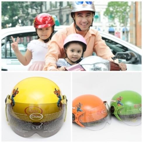 Mũ bảo hiểm trẻ em có kính chính hãng CHITA