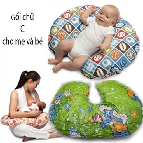 Gối chữ C cho bà bầu và em bé