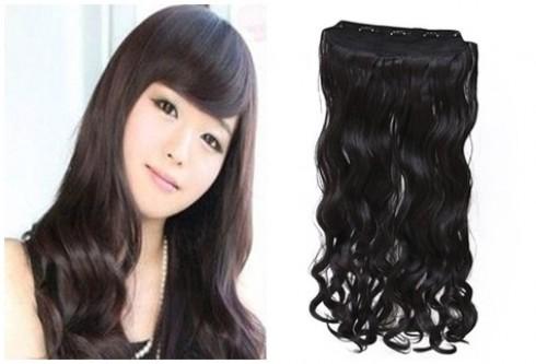 Duyên dáng với tóc giả loại 5 kẹp cho bạn gái