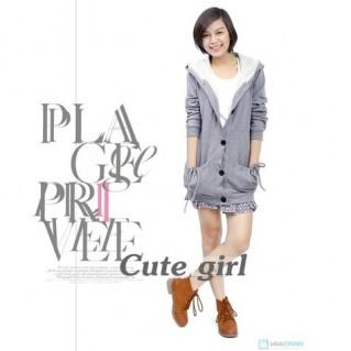 Áo khoác dáng dài phong cách Hàn Quốc cho nữ