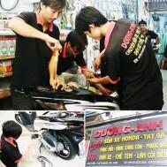 Phục hồi bình xăng con và bảo dưỡng xe máy