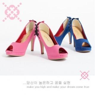 Giày cao gót nữ đính nơ