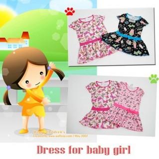 Đầm thun xinh xắn cho bé gái
