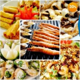 Buffet trưa (hơn 70 món) Á - Âu - Việt