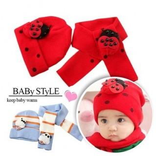 Bộ khăn choàng + nón cho bé