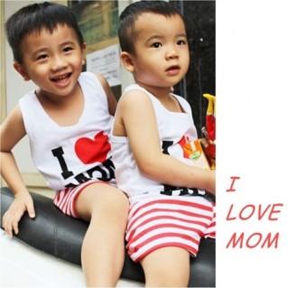 Bộ đồ I Love Mom dễ thương