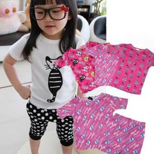 Combo 2 bộ đồ thun dành cho bé gái