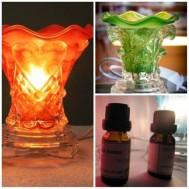Tinh dầu thiên nhiên + Đèn đốt xông hương