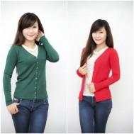 Áo len khoác trơn cổ chữ V - 1 - Thời Trang Nữ