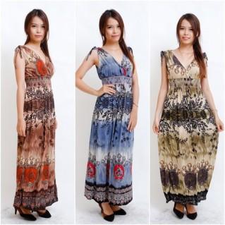 Váy maxi thun trưng diện ngày hè