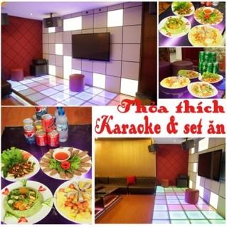 Hát Karaoke + ăn uống tại Nhà hàng Cầu Vồng