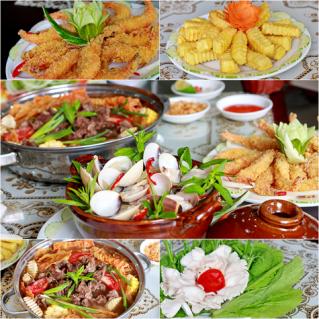 Set ăn menu Hải sản và Lẩu bò đặc biệt