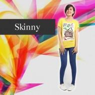 Quần skinny giả jean chấm bi - Thời Trang Nữ