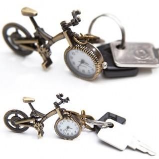 Móc khóa xe đạp có đồng hồ