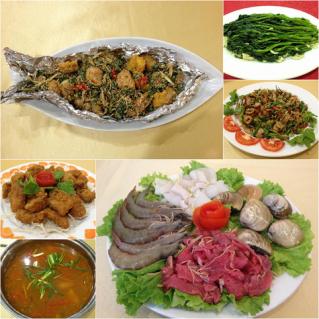 Set ăn Cá ngừ + Lẩu hải sản