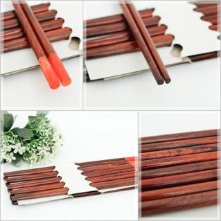 Combo 10 đôi đũa gỗ trắc tự nhiên hàng xuất Nhật