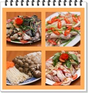 Lẩu kim chi đầu cá hồi hoặc Lẩu gà nấm