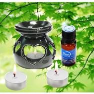 Tinh dầu thiên nhiên + Đèn xông hương + 03 nến
