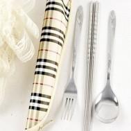 02 bộ dụng cụ ăn Muỗng, đũa, nĩa