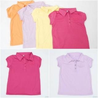 Combo 2 áo phông cổ đức cho bé gái