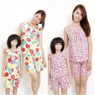 Bộ quần áo lanh đôi cho mẹ và bé gái