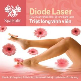 Triệt lông công nghệ Diode Laser tại Holic Spa