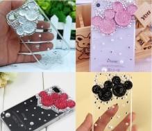 Vỏ iPhone đính đá hình gấu thời trang