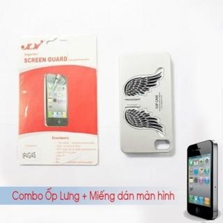 Combo Ốp lưng + Miếng dán màn hình iPhone 4/4S
