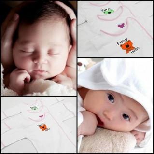 Áo cho bé sơ sinh cài cúc lệch JOU