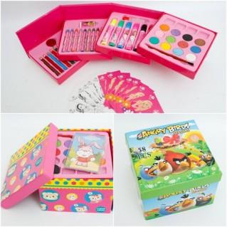 Bộ hộp màu gấp gồm 58 món cho bé yêu sáng tạo