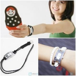 Đồng hồ dây da bính 2 vòng