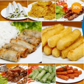 Buffet ăn vặt tại Nhà hàng Hoàng Việt