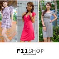Phiếu mua đầm thời trang đồng giá tại shop F21