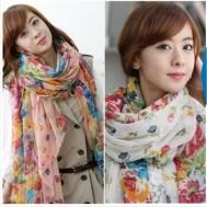 Trẻ trung với khăn hoa thời trang - 4 - Thời Trang Nữ - Thời Trang Nữ