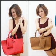 Túi xách da lộn thời trang