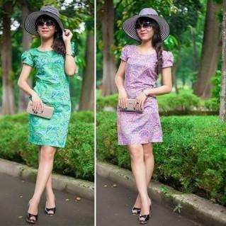 Đầm công sở Factory - Cho mùa hè sặc sỡ