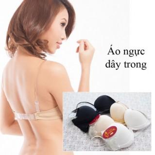 Áo ngực gài trước kèm dây lưng+dây vai trong suốt